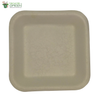 Biodegradable Compostable Sugarcane Bagasse Square Plate 5.5 inch  (Set of 25)