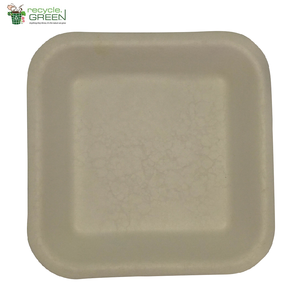 Biodegradable Compostable Sugarcane Bagasse Square Plate 5.5 inch (Set of 25)  sc 1 st  Recycle.Green & Biodegradable Compostable Sugarcane Bagasse Square Plate 5.5 inch ...