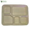 Biodegradable Compostable Sugarcane Bagasse rectangle Plate 5 compartments 11 x 8.5 (Set of 25)