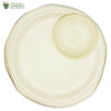 "Set of 10 Round Plate 10""+ round bowl 4""  Biodegradable Compostable Sugarcane Bagasse tableware"