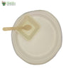 "Set of 10 Round Plate 10""+ square bowl 4""+small wood spoon Biodegradable Compostable tableware"