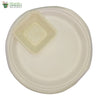 A set of 10 - Round Plate 10 inch + square bowl 4 inch Biodegradable Compostable tableware