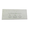 Recycled Plantable Paper Wedding/Invitation Card 8.35 x 3.45 inches(100 Cards)
