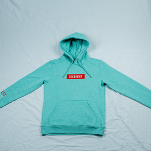 $ix €ight Hoodie Mid Heather Green