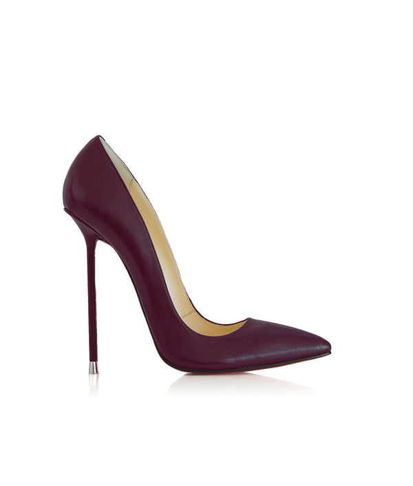 Akhira Aubergine  · Charlotte Luxury Shoes · Luxury High Heel Pumps · Di Marni · Custom made · Made to measure · Black Luxury Pumps High Heel Shoes · Stiletto Shoes