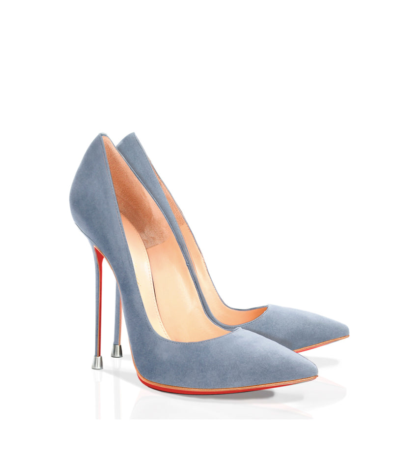Akhira Gray Suede · Charlotte Luxury Shoes · Luxury High Heel Pumps · Di Marni · Custom made · Made to measure · Luxury Pumps High Heel Shoes · Stiletto
