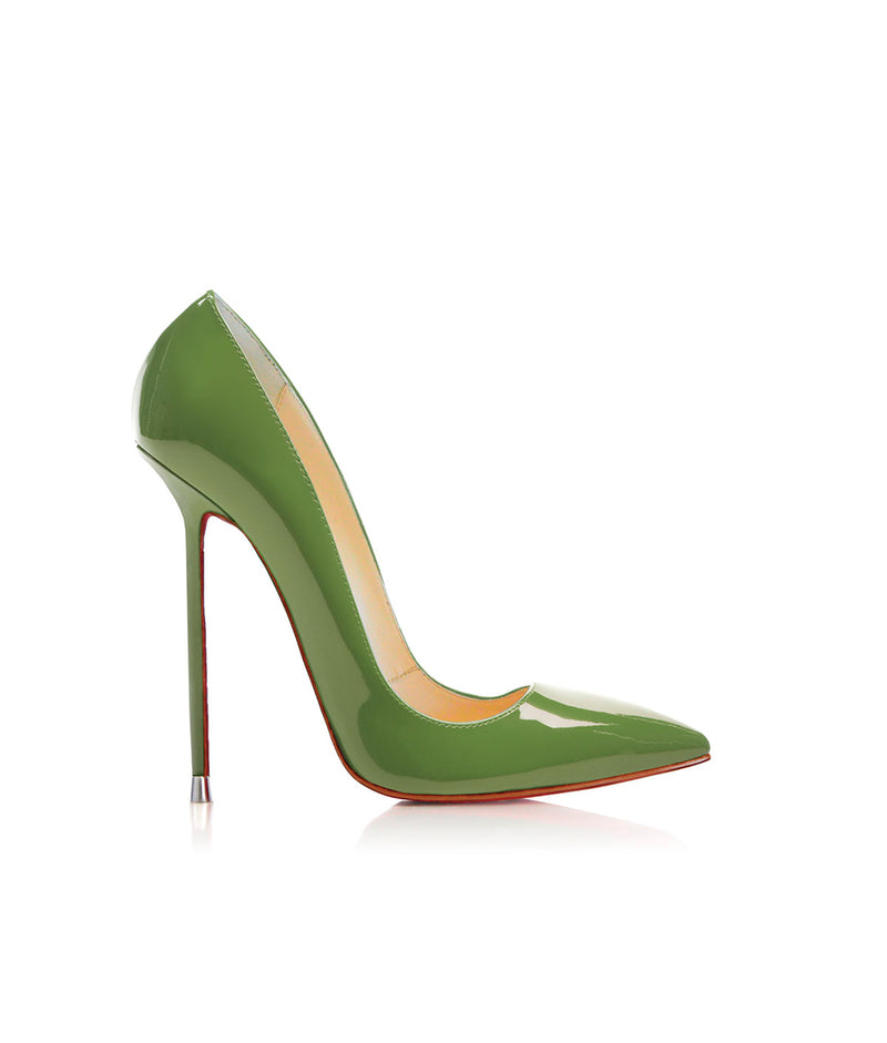 Akhira Green Patent  · Charlotte Luxury Shoes · Luxury High Heel Pumps · Di Marni · Custom made · Made to measure · Black Luxury Pumps High Heel Shoes · Stiletto Shoes