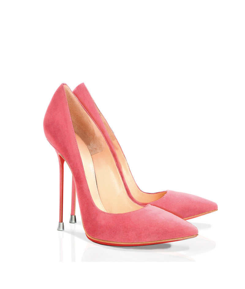 Akhira Pink Suede - Charlotte Luxury Shoes - Luxury High Heel Pumps - Di Marni - Custom made - Made to measure - Luxury Pumps High Heel Shoes - Stiletto