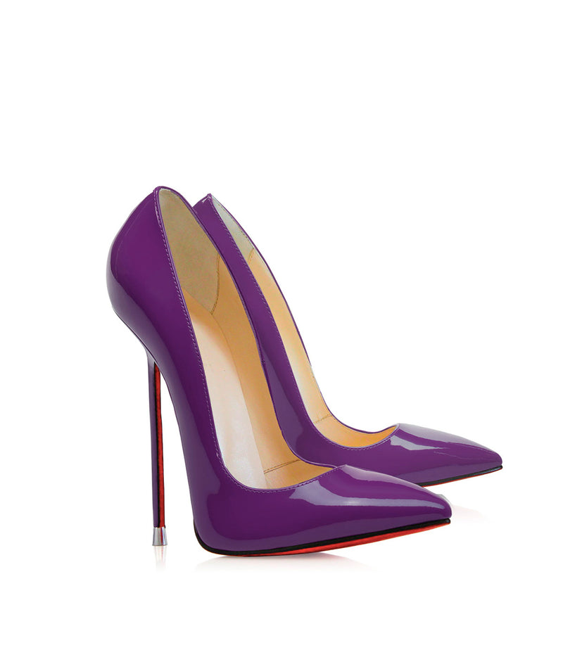 Akhira Purple Patent  · Charlotte Luxury Shoes · Luxury High Heel Pumps · Di Marni · Custom made · Made to measure · Black Luxury Pumps High Heel Shoes · Stiletto Shoes