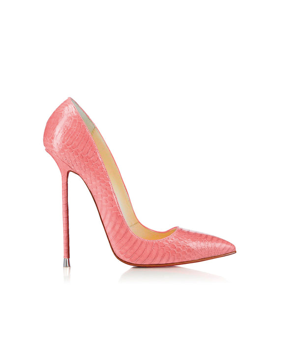 Akhira Pink Python  · Charlotte Luxury Shoes · Luxury High Heel Pumps · Di Marni · Custom made · Made to measure · Black Luxury Pumps High Heel Shoes · Stiletto Shoes