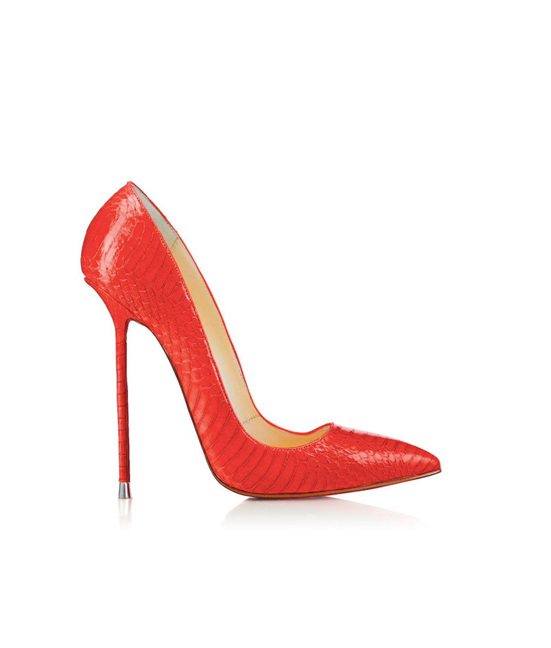 Akhira Red Python  · Charlotte Luxury Shoes · Luxury High Heel Pumps · Di Marni · Custom made · Made to measure · Black Luxury Pumps High Heel Shoes · Stiletto Shoes