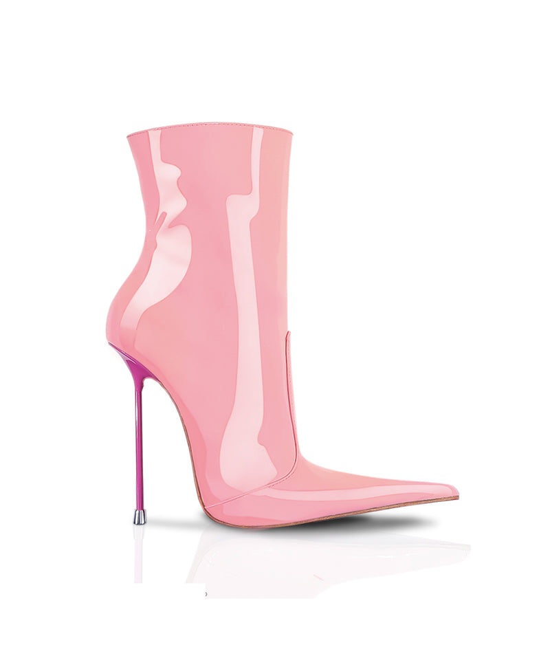 Corçai Pink · Charlotte Luxury Boots · Luxury High Heel Pointy Boots · Di Marni · Custom made · Made to measure · Luxury Pointy High Heel Boots · Stiletto Boots