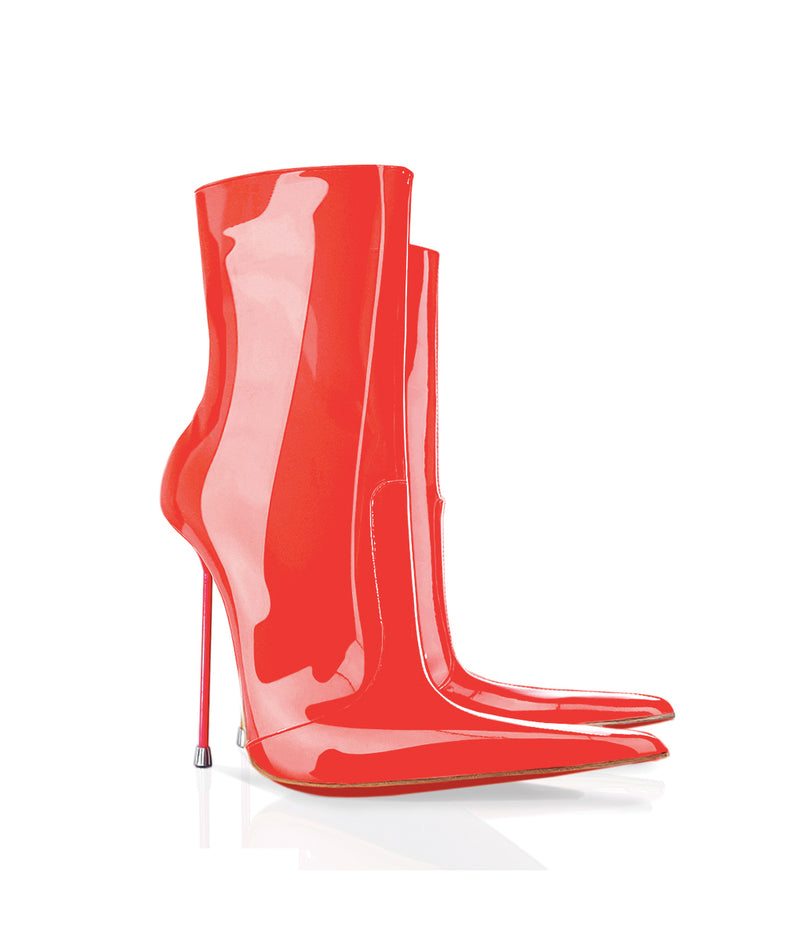 Corçai Red · Charlotte Luxury Boots · Luxury High Heel Pointy Boots · Di Marni · Custom made · Made to measure · Luxury Pointy High Heel Boots · Stiletto Boots