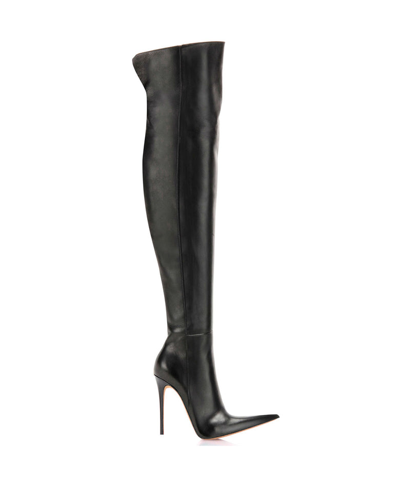 Dakin Black · Charlotte Luxury Boots · Luxury High Heel Pointy Boots · Di Marni · Custom made · Made to measure · Luxury Over Knee High Heel Boots · Boots