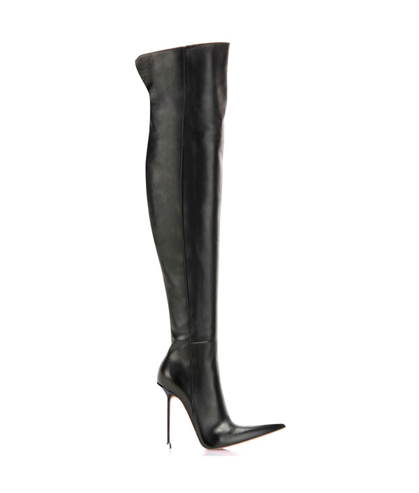 Dassel Black · Charlotte Luxury Boots · Luxury High Heel Pointy Boots · Di Marni · Custom made · Made to measure · Luxury Over Knee High Heel Boots · Boots