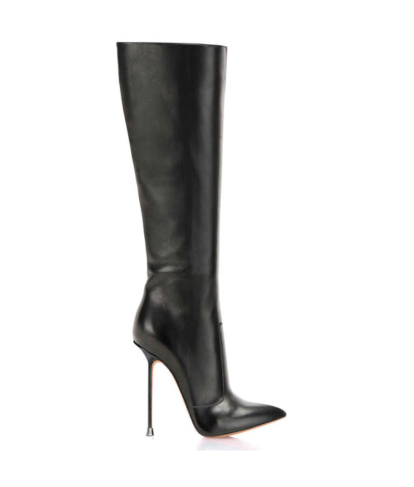 Dorbeon Black  · Charlotte Luxury Boots · Luxury High Heel Pointy Boots · Di Marni · Custom made · Made to measure · Luxury Pointy High Heel Boots · Stiletto Boots