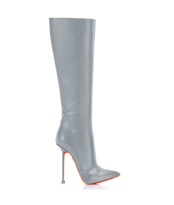 Dorbeon Gray  · Charlotte Luxury Boots · Luxury High Heel Pointy Boots · Di Marni · Custom made · Made to measure · Luxury Pointy High Heel Boots · Stiletto Boots