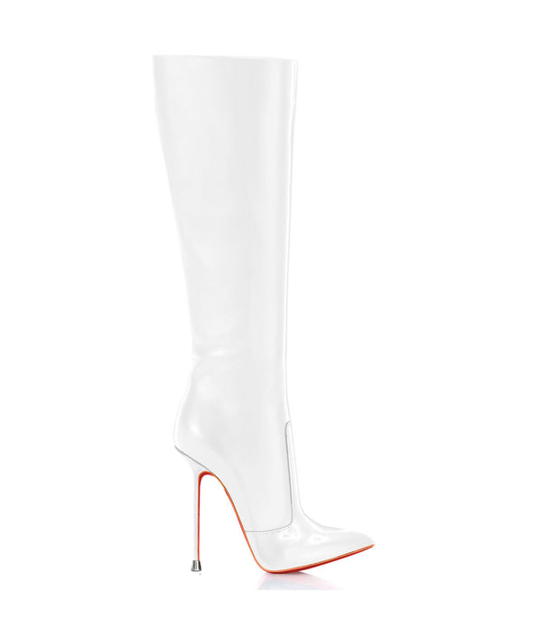 Dorbeon White · Charlotte Luxury Boots · Luxury High Heel Pointy Boots · Di Marni · Custom made · Made to measure · Luxury Pointy High Heel Boots · Stiletto Boots