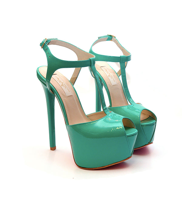Doreva Green Patent · Charlotte Luxury Shoes · Luxury High Heel Sandals Shoes · Yarose Shulzhenko · Custom Made · Made to measure · Luxury High Heel Sandals · Shoes