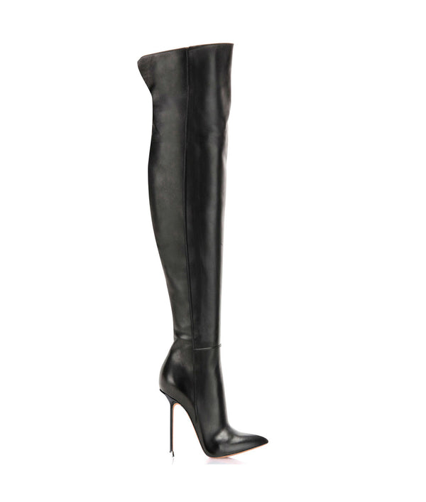 Gala Black · Charlotte Luxury Boots · Luxury High Heel Pointy Boots · Di Marni · Custom made · Made to measure · Luxury Over Knee High Heel Boots · Boots