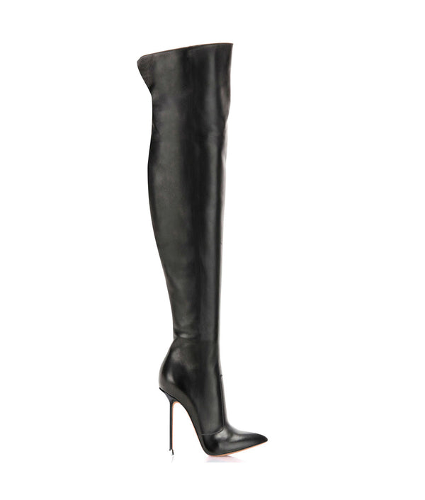 Guaran Black · Charlotte Luxury Boots · Luxury High Heel Pointy Boots · Di Marni  · Custom made · Made to measure · Luxury Over Knee High Heel Boots · Boots