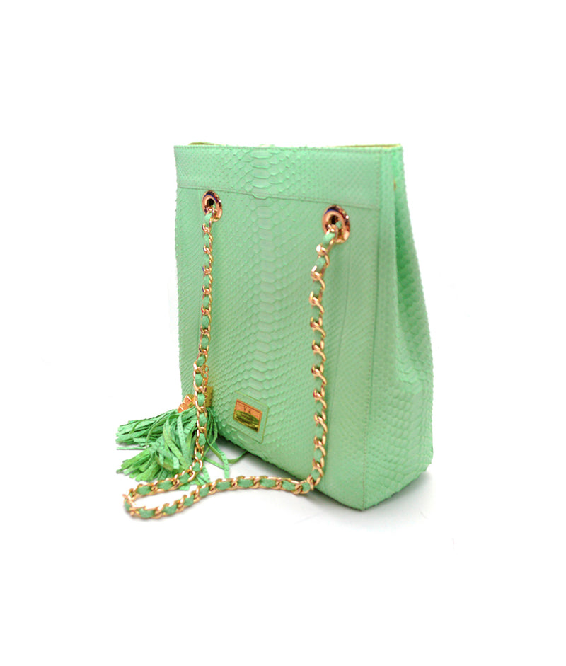 Hamin Green Python · Charlotte Luxury bags · Luxury Leather Bags · Yarose Shulzhenko · Custom Made · Made to measure · Luxury Handmade Bags · HandBags
