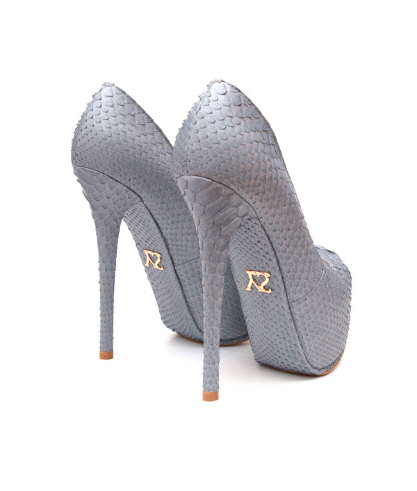 Junna Gray Python · Charlotte Luxury Shoes · Luxury High Heel Platform Shoes · Yarose Shulzhenko · Custom Made · Made to measure · Luxury High Heel Shoes · Shoes