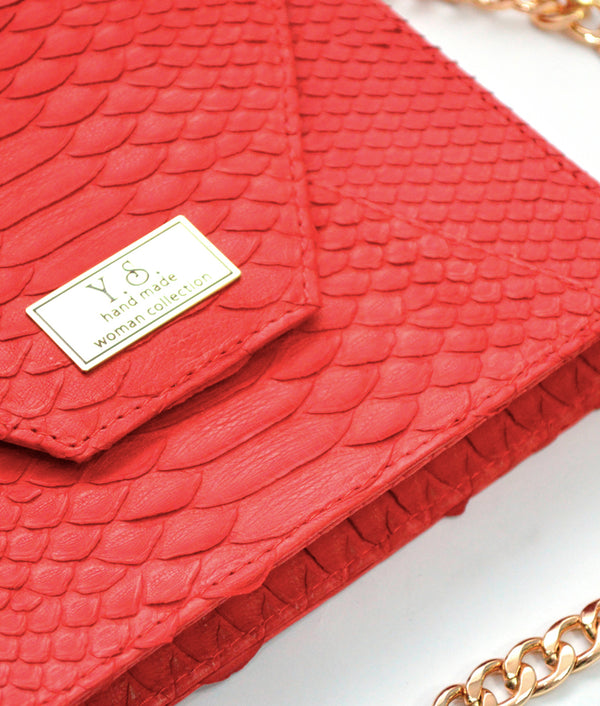 Envelope Red Python · Charlotte Luxury bags · Luxury Leather Bags · Yarose Shulzhenko · Custom Made · Made to measure · Luxury Handmade Bags · HandBags