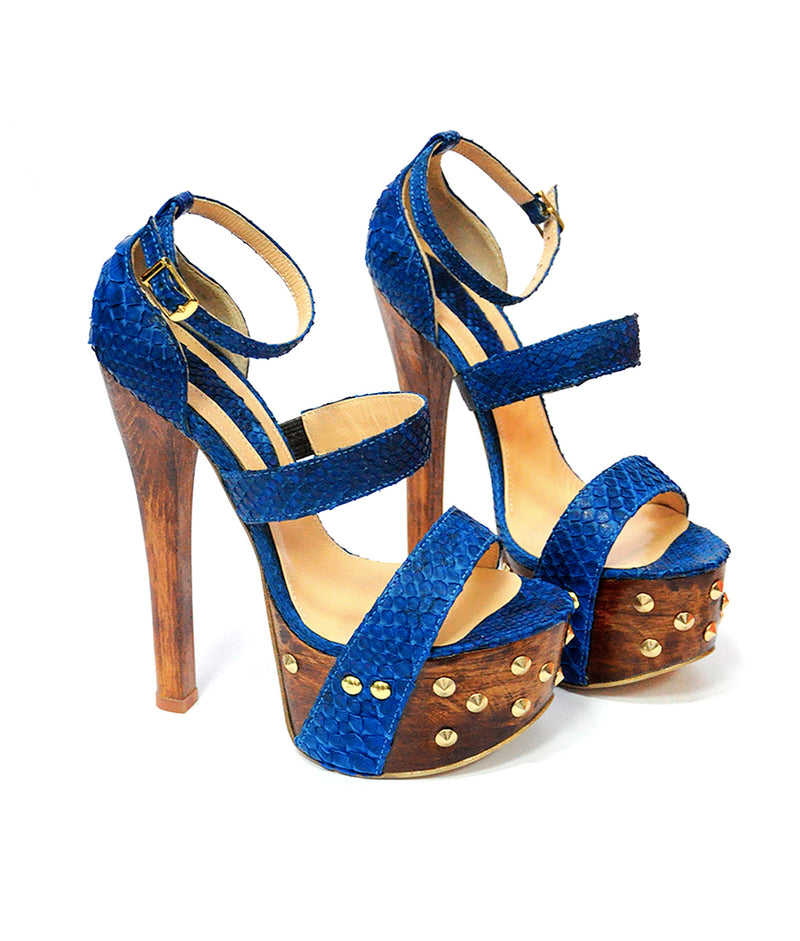 Krystall Blue Python · Charlotte Luxury Shoes · Luxury High Heel Sandals Shoes · Yarose Shulzhenko · Custom Made · Made to measure · Luxury High Heel Sandals · Shoes