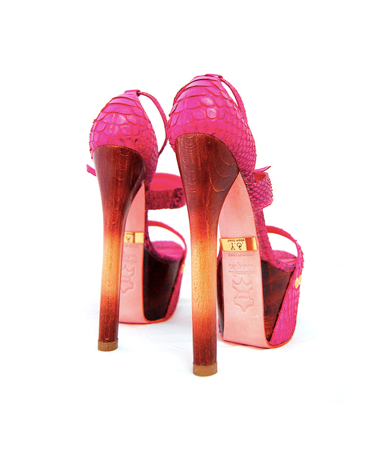 Krystall Fuchsia Python · Charlotte Luxury Shoes · Luxury High Heel Sandals Shoes · Yarose Shulzhenko · Custom Made · Made to measure · Luxury High Heel Sandals · Shoes
