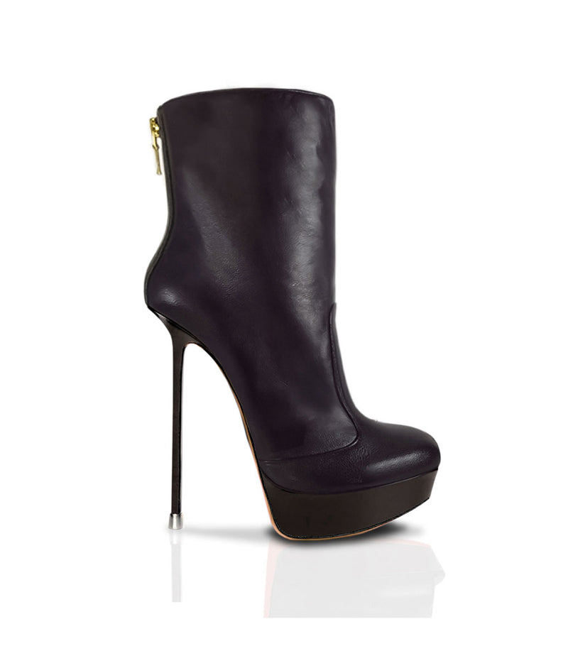 Mauhuala Black · Charlotte Luxury Boots · Luxury High Heel Ankle Boots · Di Marni · Custom made · Made to measure · Luxury Platform High Heel Boots · Stiletto Boots