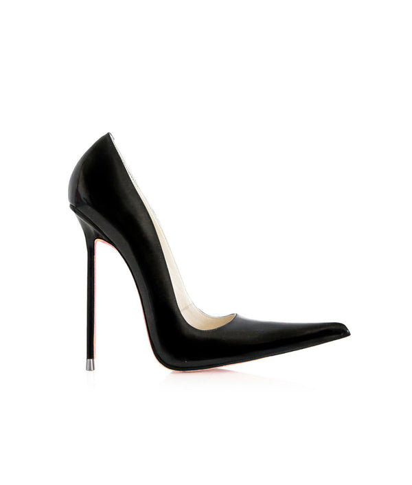 Manx Black Patent · Charlotte Luxury Shoes · Luxury High Heel Pointy · Di Marni · Custom made · Made to measure · Black Luxury Pointy High Heel Shoes · Stiletto Shoes