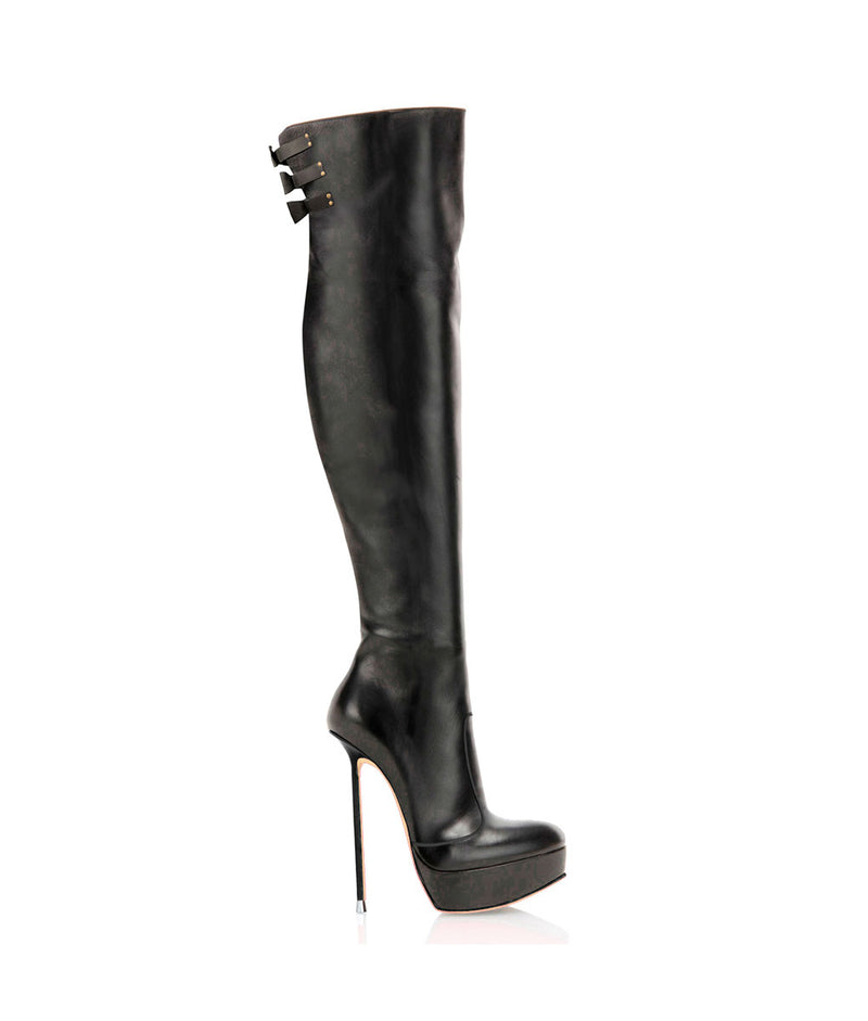 Memoral Black · Charlotte Luxury Boots · Luxury High Heel Over Knee High Boots · Di Marni · Custom made · Made to measure · Luxury Platform Boots · High Heel Boots