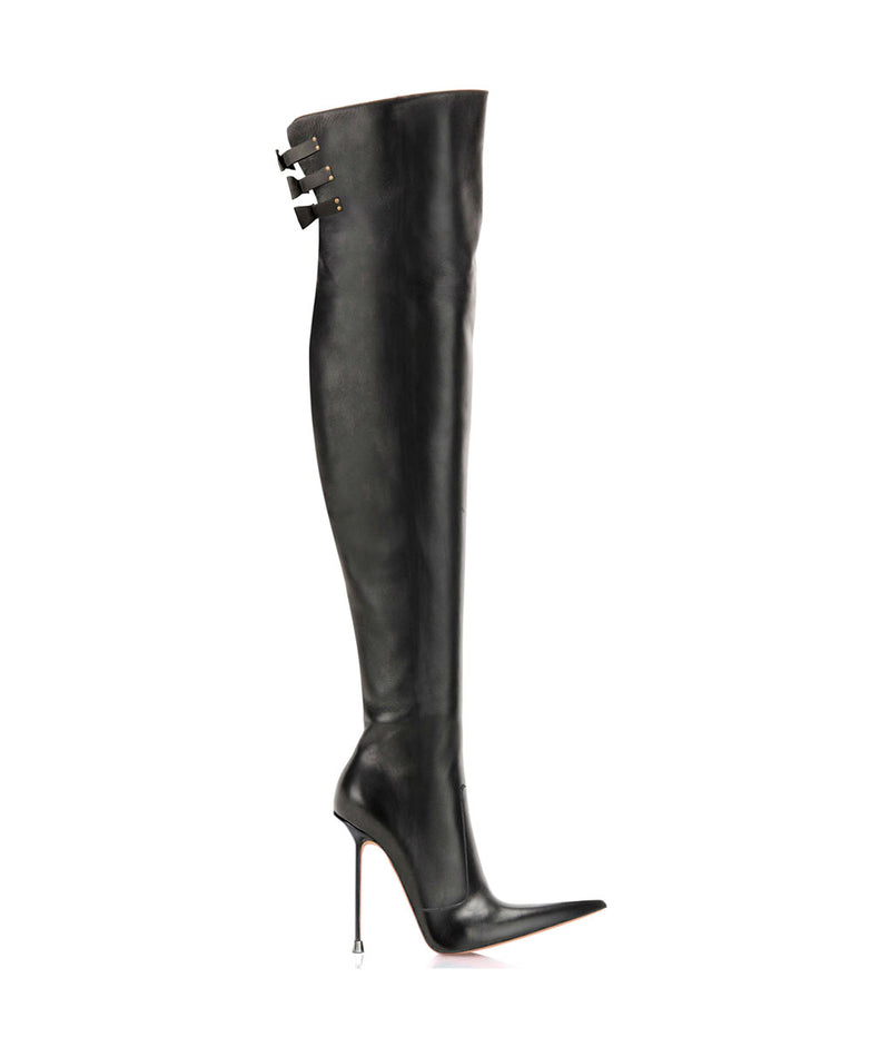 Minuss Black · Charlotte Luxury Boots · Luxury High Heel Pointy Boots · Di Marni · Custom made · Made to measure · Luxury Over Knee High Heel Boots · Boots