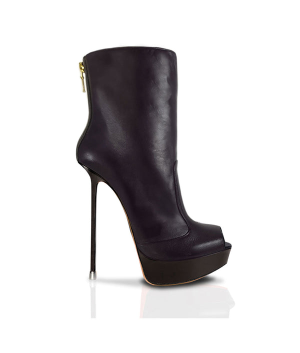 Numala Black · Charlotte Luxury Boots · Luxury High Heel Ankle Boots · Di Marni · Custom made · Made to measure · Luxury Platform High Heel Boots · Stiletto Boots