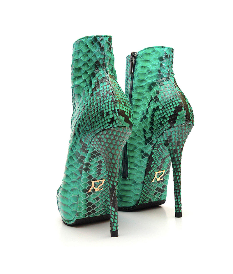 Ovalon Green Python · Charlotte Luxury Boots · Luxury High Heel Boots · Yarose Shulzhenko · Custom Made · Made to measure · Luxury High Heel Ankle Boots  · Boots
