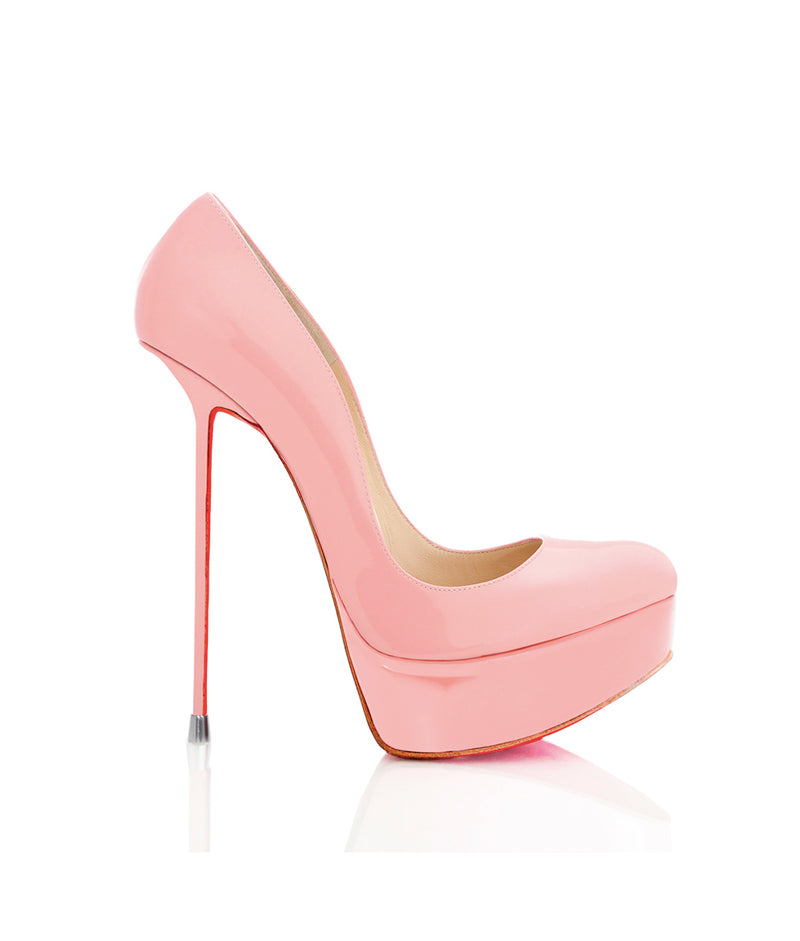 Oxia Pink Patent · Charlotte Luxury Shoes · Luxury High Heel Platform Shoes · Di Marni · Custom Made · Made to measure · Luxury Platform High Heel Shoes · Luxury Shoes