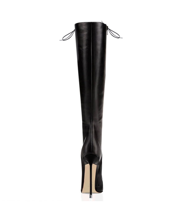 Scandall Black · Charlotte Luxury Boots · Luxury High Heel Pointy Boots · Di Marni · Custom made · Made to measure · Luxury Pointy High Heel Boots · Stiletto Boots