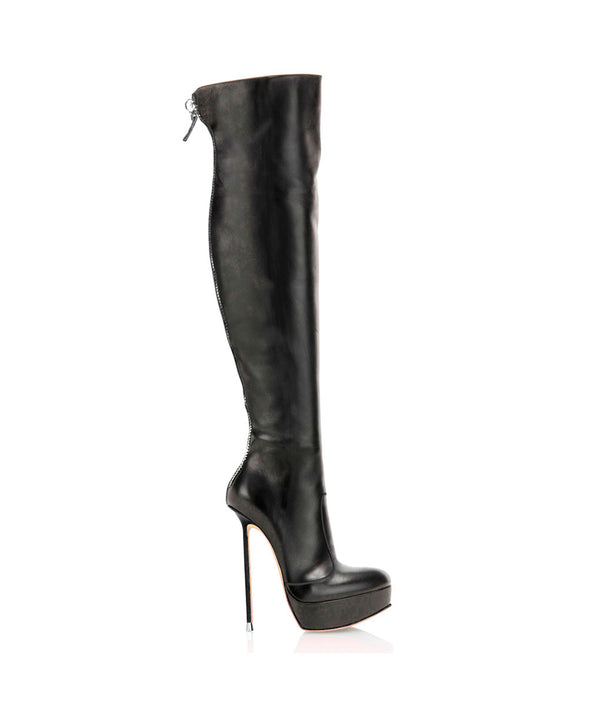 Sky-high Black · Charlotte Luxury Boots · Luxury High Heel Over Knee High Boots · Di Marni · Custom made · Made to measure · Luxury Platform Boots · High Heel Boots
