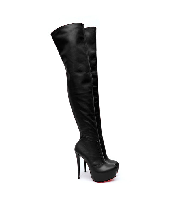 Stroker black · Charlotte Luxury Boots · Luxury High Heel Over Knee Boots · Yarose Shulzhenko · Custom Made · Made to measure · Luxury High Heel Tall Boots · Boots