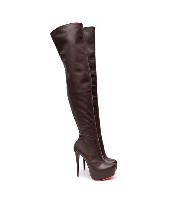 Stroker Brown · Charlotte Luxury Boots · Luxury High Heel Over Knee Boots · Yarose Shulzhenko · Custom Made · Made to measure · Luxury High Heel Tall Boots · Boots