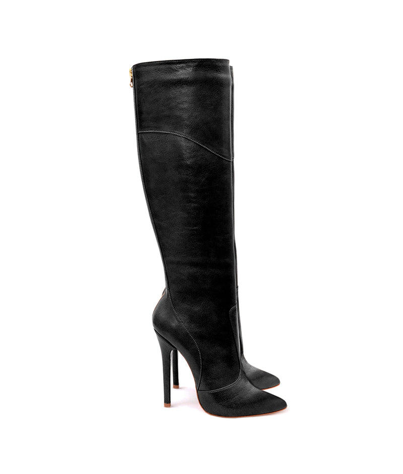 Tabatha Black · Charlotte Luxury Boots · Luxury High Heel Knee High Boots · Yarose Shulzhenko · Custom Made · Made to measure · Luxury High Heel Tall Boots · Boots