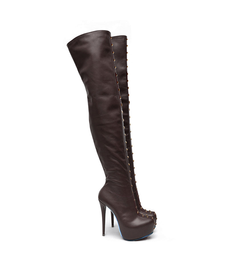 Tackies Brown · Charlotte Luxury Boots · Luxury High Heel Over Knee Boots · Yarose Shulzhenko · Custom Made · Made to measure · Luxury High Heel Tall Boots · Boots