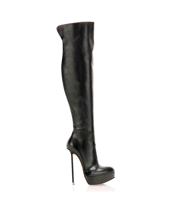 Truante Black · Charlotte Luxury Boots · Luxury High Heel Over Knee High Boots · Di Marni · Custom made · Made to measure · Luxury Platform Boots · High Heel Boots