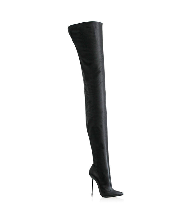 Kyla Black · Charlotte Luxury Boots · Luxury High Heel Pointy Boots · Di Marni · Custom made · Made to measure · Luxury Over Knee High Heel Boots · Boots