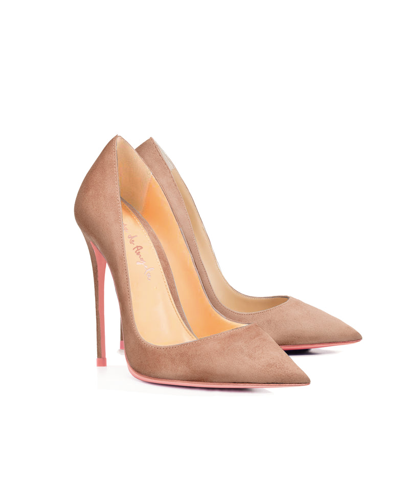 Adhara  Nude  Suede  · Charlotte Luxury High Heels Shoes · Ada de Angela Shoes · High Heels Shoes · Luxury High Heels · Pumps · Stiletto · High Heels Stiletto