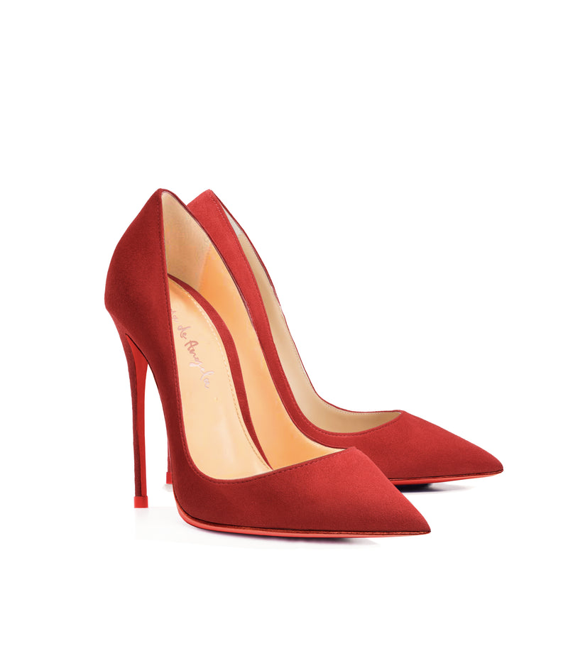 Adhara Red Suede  · Charlotte Luxury High Heels Shoes · Ada de Angela Shoes · High Heels Shoes · Luxury High Heels · Pumps · Stiletto · High Heels Stiletto