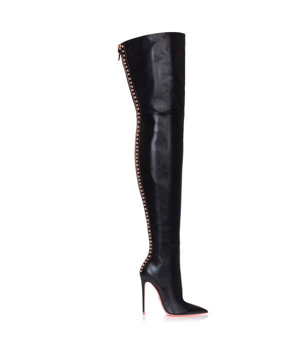 Algol  Black · Charlotte Luxury High Heels Boots · Ada de Angela Shoes · High Heels Boots · Luxury Boots · Over Knee High Boots · Stiletto · Leather Boots