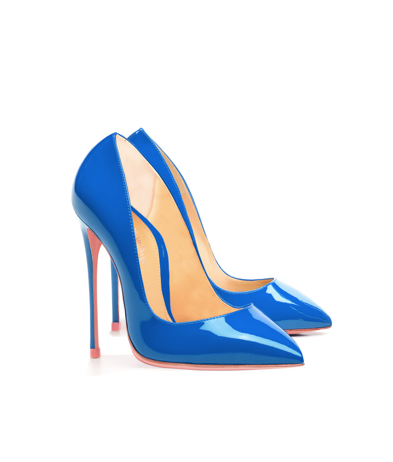 Alhena  Azzurro Patent · Charlotte Luxury High Heels Shoes · Ada de Angela Shoes · High Heels Shoes · Luxury High Heels · Patent Shoes · Stiletto · High Heels