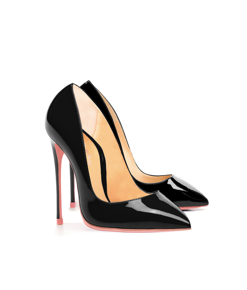 Alhena  Black Patent · Charlotte Luxury High Heels Shoes · Ada de Angela Shoes · High Heels Shoes · Luxury High Heels · Patent Shoes · Stiletto · High Heels